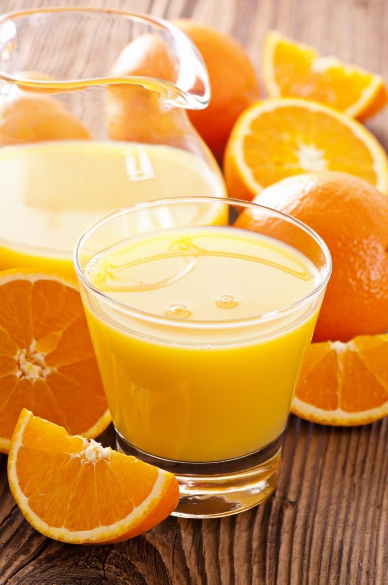 verre de jus d'orange pour faire le plein de vitamine C
