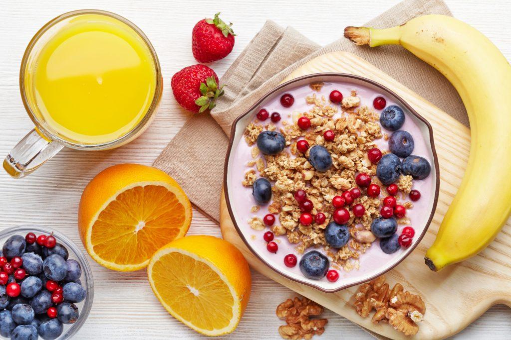 un petit déjeuner pour les sportifs